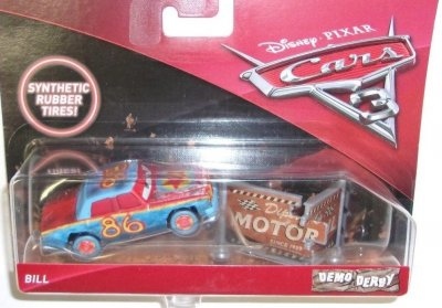 Bill crazy 8 disney cars