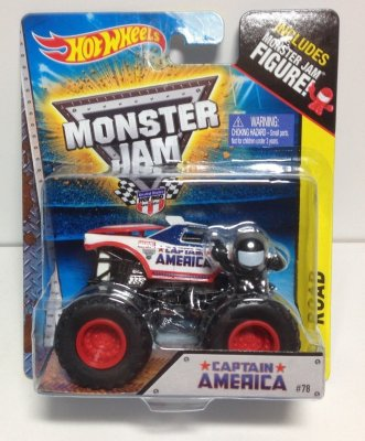 Hot Wheels Monster Jam - Captain America
