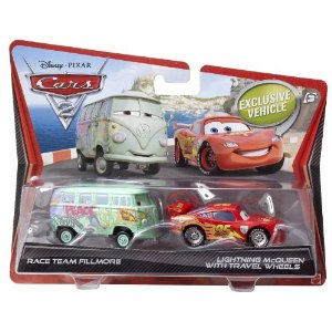Fillmore & Blixten McQueen travel wheels - Cars 2