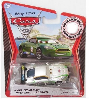 Nigel Gearsley nr 9 i silver metallic - Cars 2