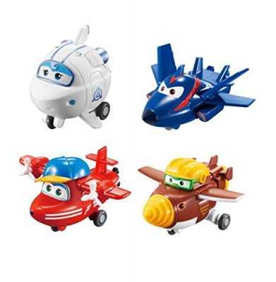 Super Wings 4-pack 5cm Flip, Todd, Astra, Agent Chase