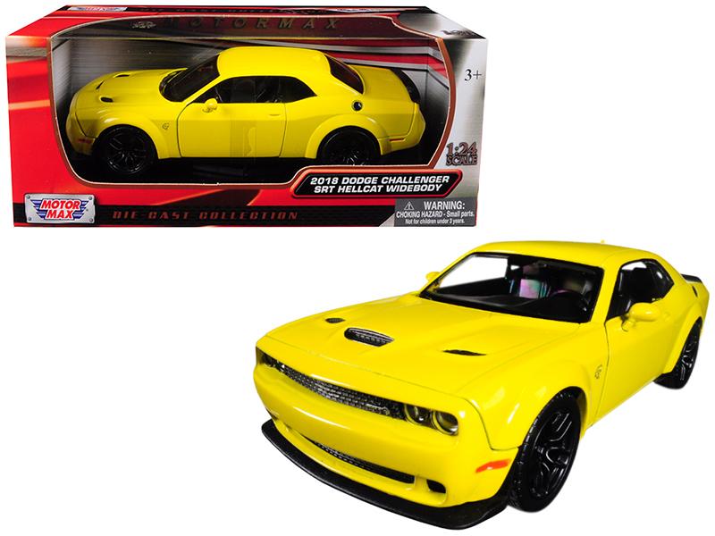 Challenger Srt Hellcat >> Dodge Challenger Srt Hellcat 2018 Yellow Scale 1 24