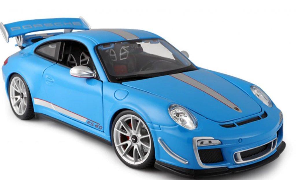 Porsche 911 Gt3 Rs 4 0 Blue Scale 1 18 Model Cars Playlek Se